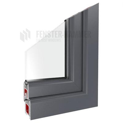 fenster basaltgrau doppelverglasung kunststoff ral 7012 ebay. Black Bedroom Furniture Sets. Home Design Ideas