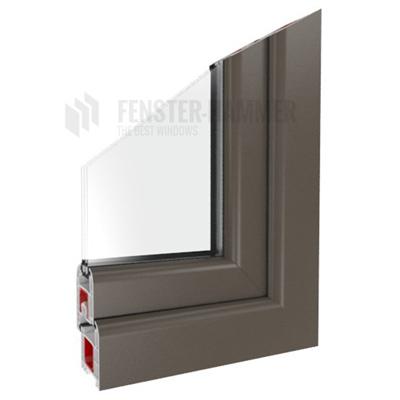 Fenster quarzgrau ral 7039 doppelverglasung kunststoff ebay for Fenster hammer
