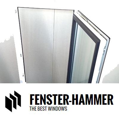 kunststofffenster doppelverglasung anthrazit grau