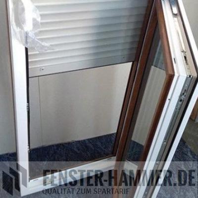 Kunststofffenster eiche braun golden oak doppelverglasung for Fenster hammer